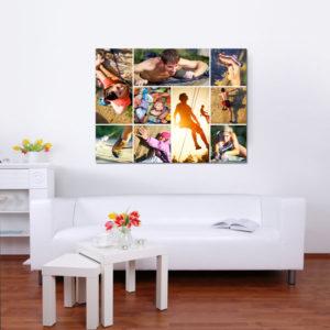 Fotocollage op plexiglas print
