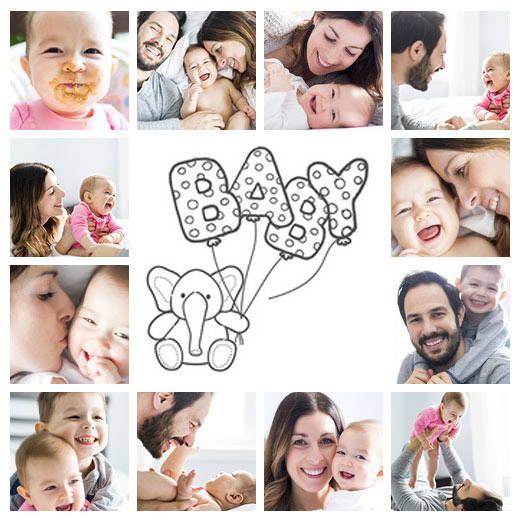 baby fotocollage slider