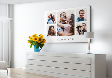 collage canvas love appartement