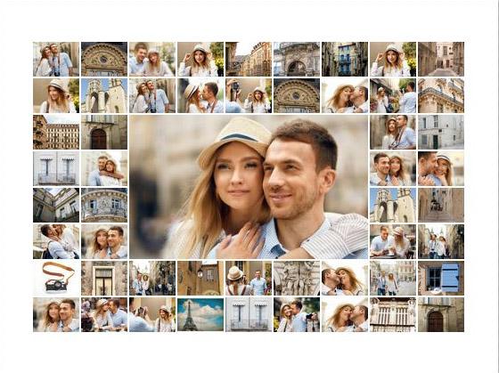 collage maken met veel fotos slider