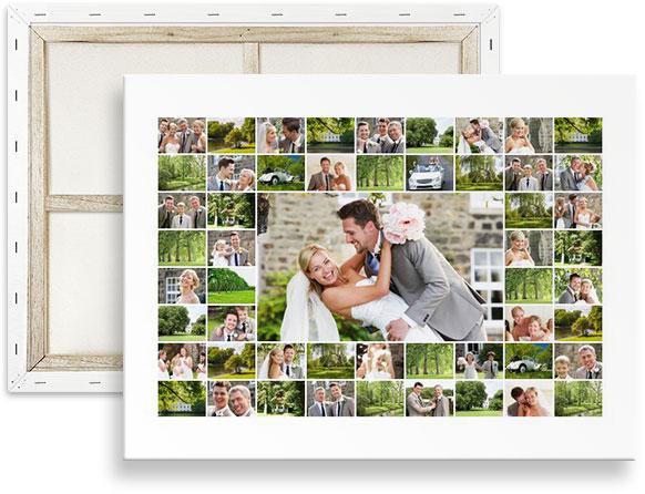 collage maken met veel fotos su tela