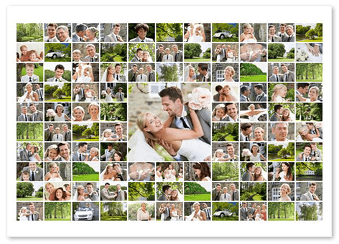 Fonkelnieuw Collage maken van 100 foto's - GRATIS sjablonen voor XXL-collages! XB-57