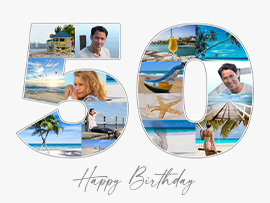 fotocollage 50 verjaardag tekst