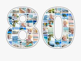 fotocollage 80 verjaardag groot