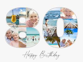 fotocollage 80 verjaardag tekst